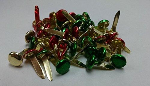 Scrapbooking - Large Round Brads - Metallic Christmas Colors ()