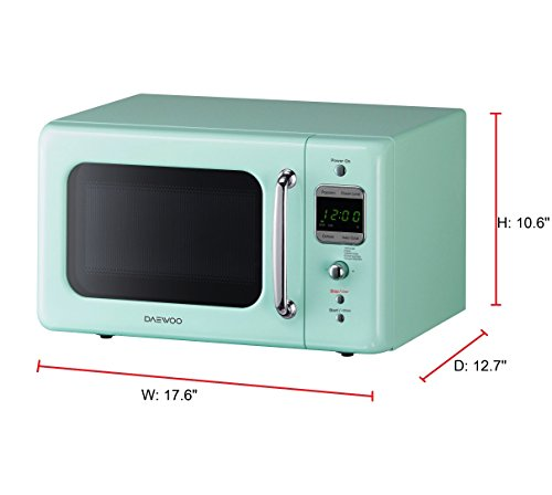 Daewoo Retro Microwave Oven 0 7 Cu Ft Mint Green 700w