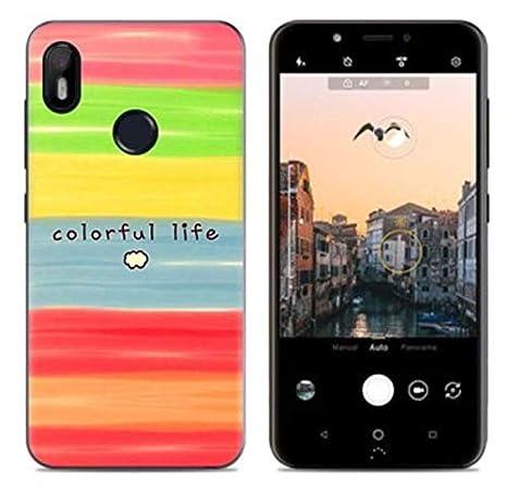 Prevoa Funda para BQ Aquaris C - Colorful Silicona TPU Funda Case para BQ Aquaris C Smartphone - 7