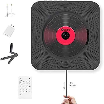 DZSF Reproductor de CD Caja de Audio portátil para el hogar Bluetooth montable en la Pared con Control Remoto Radio FM Altavoces de Alta fidelidad incorporados MP3,A: Amazon.es: Deportes y aire libre