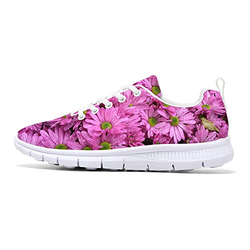 Women DANCE Shoes Printed Design Lightweight 2018 FIRST Floral Sneakers Style6 Tennis Sneakers Fashion Walking Running Flower qwx1AEzOd