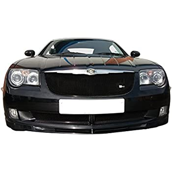 Lower Grille Set 2004 to 2008 Zunsport Compatible With Chrysler Crossfire Silver finish