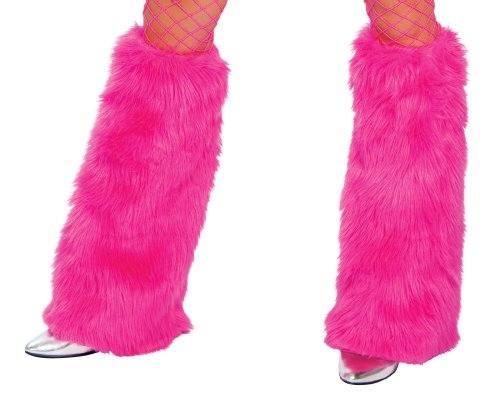 Roma Costume Faux Fur Boot Covers, Hot Pink, One Size (Pink Fluffies Leg Warmers)