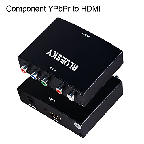 Component to HDMI Converter, Bluesky 5RCA Component RGB YPbPr to HDMI Converter v1.3 HDCP Video Audio Converter Adapter for DVD, PSP, Xbox 360 to HDMI New HDTV/ Monitor 1080P/720P/480P - Xbox 360 Hdmi Adapter