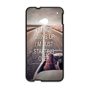 HTC One M7 Cell Phone Case Black Not Giving Up Just Starting Over LSO7949938