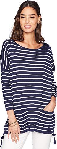 Lilly Pulitzer Women's Elba Sweater True Navy Coastal Shell Stripe Small