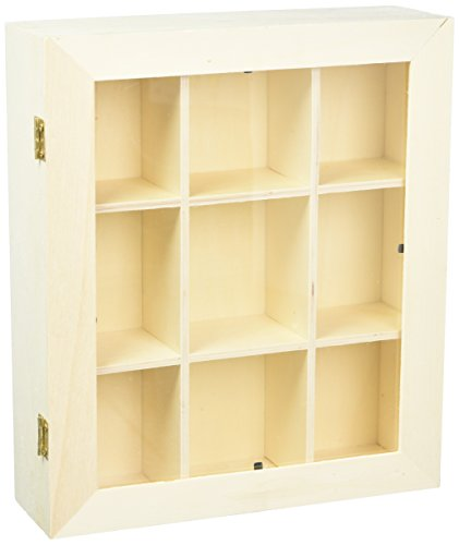 """Touch of Nature 50325 1 Piece Plywood Shadow Box with Plexiglass Door, 9"""" from Touch of Nature"""