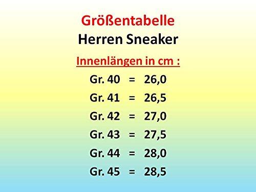 gibra® Hombre Zapatillas, transpirable y cómodo, color rojo/negro, talla 40–45 rojo y negro