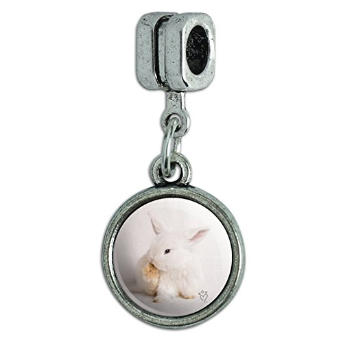 GRAPHICS & MORE Lop Ears Miniature Bunny Rabbit Italian European Style Bracelet Charm Bead