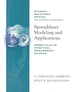 Amazon spreadsheet modeling and applications essentials of student solutions manual for winstonalbrights spreadsheet modeling and applications essentials of practical management fandeluxe Image collections