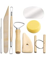 LUTER 8Pcs Wooden Ceramic Clay Tools Set, Ceramics Clay Wax Pottery Carving Sculpting Modeling Cleaning Tools