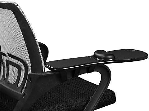 アームレスト マウスパッド 椅子に取り付けることができます 腱鞘炎予防にぜひ アーム疲労軽減 (ブラック)