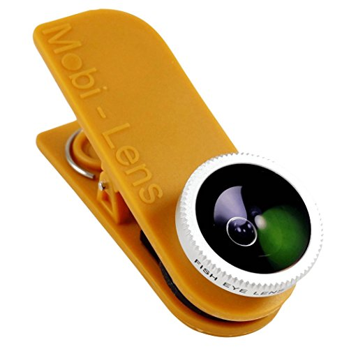 Mobi-Lens Clip On Lens Fisheye Lens 360 Degrees for iPhone 6 Plus 6 5s 5c 5, Note 4 5 Galaxy S4 S5 S6 Edge - Gold by Mobi-Lens