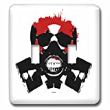 3dRose lsp_254315_2 Red Skull with Gas Mask and Sunglasses Military Angry Bad-Double Toggle Switch