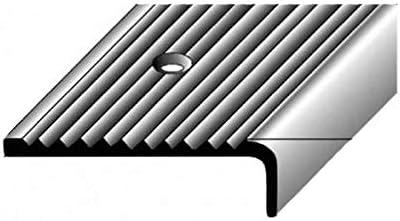 gebohrt silber 40 mm x 15 mm 2 Meter Treppenkantenprofil // Winkelprofil Aluminium eloxiert