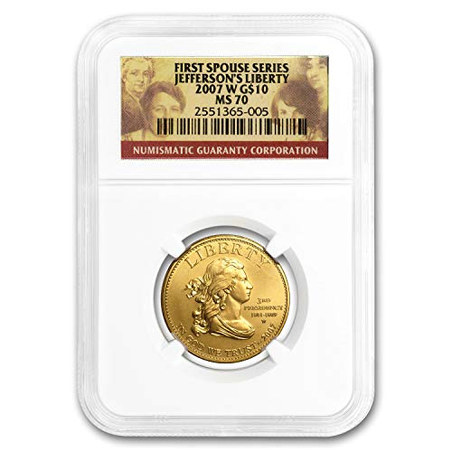 (2007 W - Present 1/2 oz Gold First Spouse Coins MS-70 NGC (Random) 1/2 OZ MS-70 NGC)