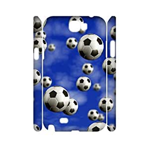 Soccer Ball Personalized 3D Cover Case for Samsung Galaxy Note 2 N7100, Personalized Soccer Ball 3D Cell Phone Case