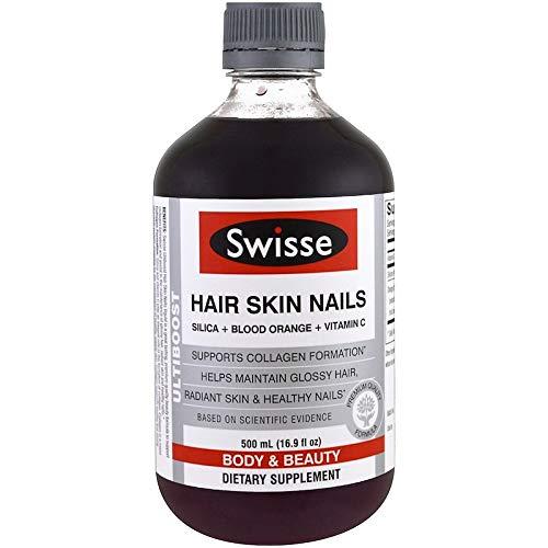 Swisse, Ultiboost, Hair Skin Nails (Silica + Blood Orange + Vitamin C), 16.9 fl oz (500 ml)