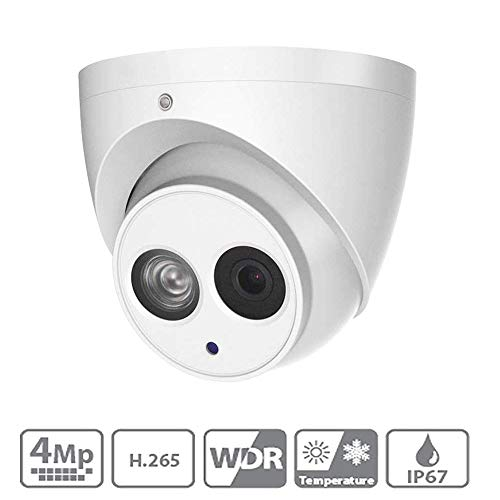 4MP Dahua Outdoor PoE IP Camera IPC-HDW4433C-A 2.8mm, Dome Security Camera with Audio, Built-in Mic, IR 164ft Night Vision, International Version Smart H.265 WDR, IVS, ONVIF, IP67