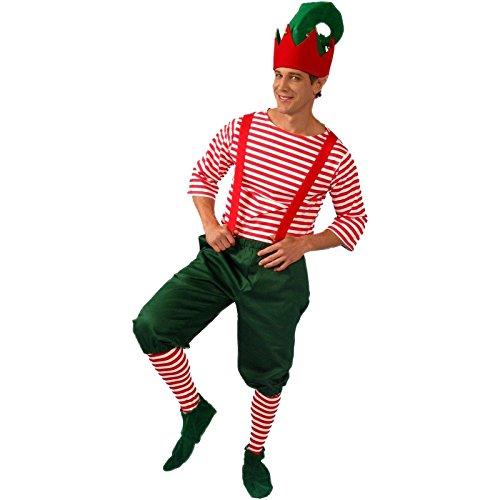 Alexanders Costumes Men's Christmas Elf Red, Large