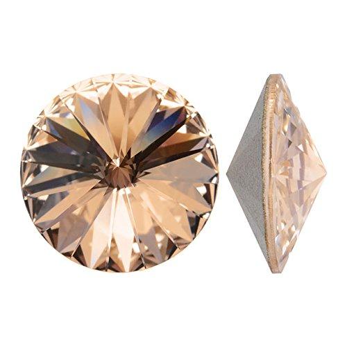 Swarovski Silk - Swarovski Crystal, 1122 Rivoli Fancy Stones 14mm, 2 Pieces, Silk Sf