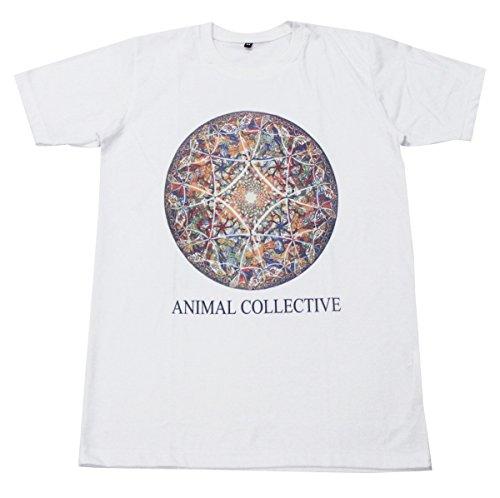 [Animal Collective art indie punk rococo diamond T-Shirt White / GV11 size M] (Mens Disco Jumpsuit)