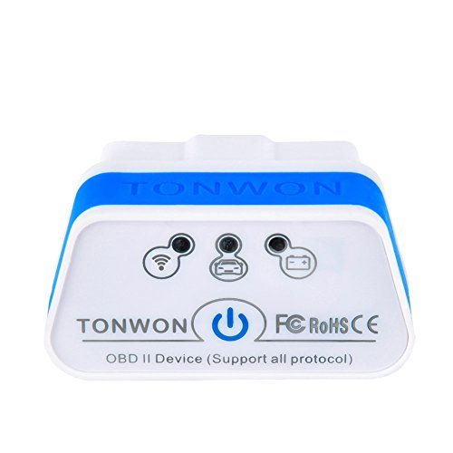 TONWON OBD2 Scan Tool Car Scan Auto Adapter Check Engine Light Connects Via Wi-Fi With iOS, Android Device