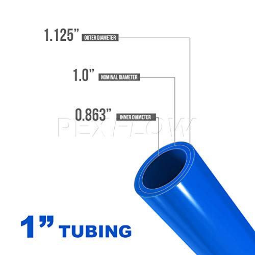 Pexflow PFW-B1100 PEX Potable Water Tubing Non-Barrier Pipe, 1 Inch x 100 Feet, Blue by PEXFLOW (Image #3)