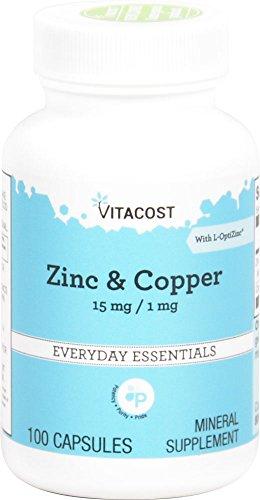 Vitacost Zinc & Copper 15 mg / 1 mg -- 100 Capsules