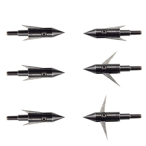LiuMing 6pk Compound Bow and Crossbow 125 Grain Arrowheads F