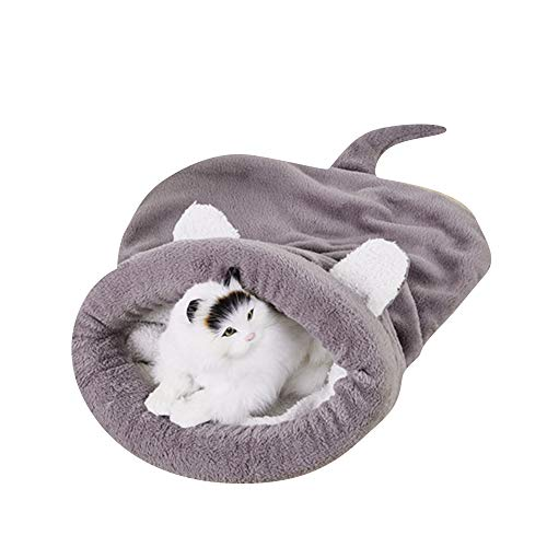 BBDOGO Cat Puppy Cozy Sleeping Bag Self-Warming Snuggle Sack Half Covered Cave Windproof Pet Beds CW068 (M, - Snuggle Dogs Sack