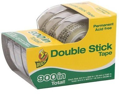 Henkel 0021087 Permanent Double-Stick Tape44.5 in. x 300 in.44; 1 in. Core44; Clear