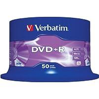 Verbatim DVD+R 4.7GB 16X 50 Pack Spindle