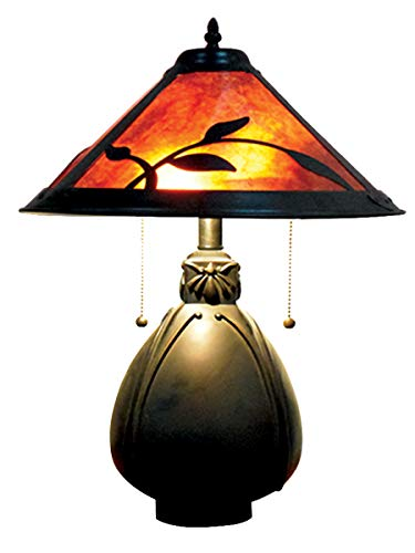 Dale Tiffany TT18177 Fall Leaves Mica Table Lamp, Antique Bronze