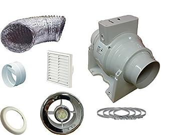 ventilador extractor en línea sfm100t conjunto para cuarto de baño ... - Extractor Bano Valvula Antirretorno