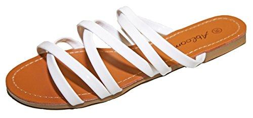 Flip Füße Sandalen Flops Pierre cedric Lackiert Kunstleder Frau Multi Weiß laniere Nackt nqgSn1w