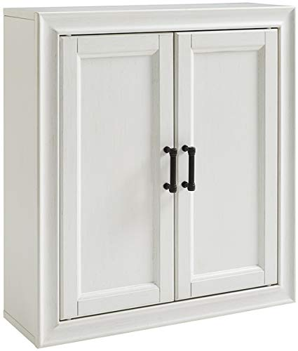 Crosley Furniture CF7012-WH Tara Bathroom Wall Cabinet, Vintage White (Furniture Vintage Bathroom)