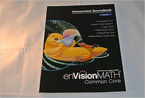 Amazon.com: enVision Math Common Core Assessment Sourcebook Grade ...