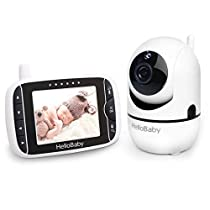 Baby Monitor with Remote Pan-Tilt-Zoom Camera and 3.2