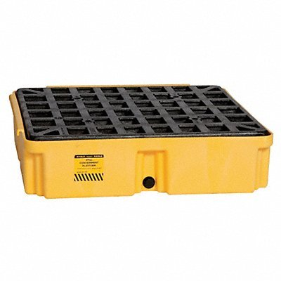 Eagle 1633D Yellow 1 Drum Modular Platform with Drain by Eagle