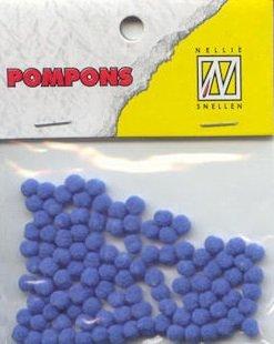 Nellie Snellen Choice Mini Pompons Bleu clair 100/ST 3/mm