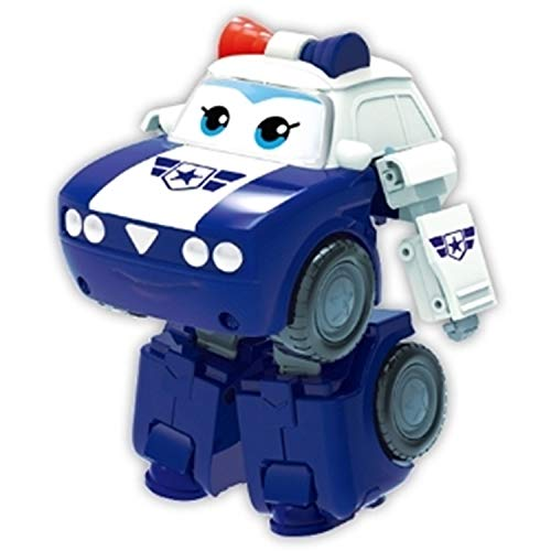 Super Wings Season 3 Transforming Police Team (Officer Kim) 5 Inch Tall Korean Action Figure Toy ()