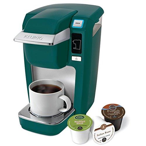 Keurig K15 Single Serve Coffee Maker Holiday Bundle with 36 K-Cup Pods, 12 Oz. Travel Mug and 35 Count K-Cup Pod Storage Drawer, Black