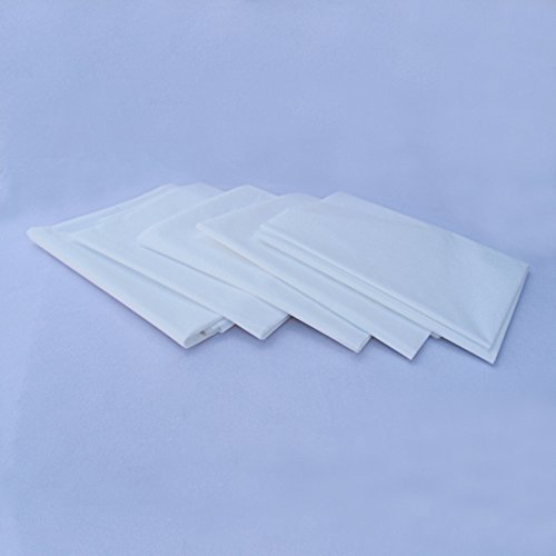 Disposable Massage Table Sheets - White | Protective Laminated, Tear Resistant | Soft, Hypoallergenic & Hygienic (Set of 5)