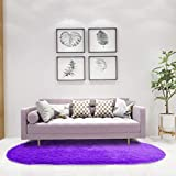 Aicehome Bedroom Rug, 2.6×5.3 Feets Super Soft Bedside Girl Rug Thickened Anti-Slip Bottom Area Rug for Home Dining Room Dorm Room Nursery