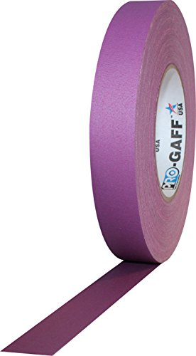 1 Width ProTapes Pro Gaff Premium Matte Cloth Gaffers Tape With Rubber Adhesive, 11 mils Thick, 55 yds Length, Purple (Pack of 1)