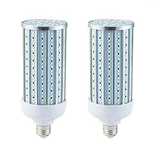 LED Corn Bulb,60 Watt (400W-500W Equivalent),Bright LED Bulb,6000 Lumen,6000K Daylight, E26/E27 Medium Base,for Street LED Light,Garage,Warehouse, High Bay, Barn, Backyard, Basement,Workshop,2 Pack…