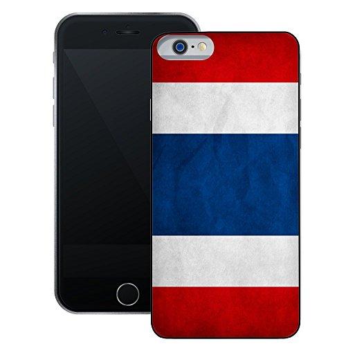 Thailand Flagge | Handgefertigt | iPhone 6 6s (4,7') | Schwarze Hülle