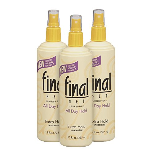 Final Net Extra Hold Hairspray, Unscented, 12 Ounce (Pack of 3) (Net Spray)