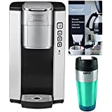 Cuisinart SS-5P1 Compact Single Serve Coffee Brewer with Double Wall Stainless Steel Tumbler and Descaling Powder Bundle (3 I